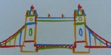 Drawing of bridge