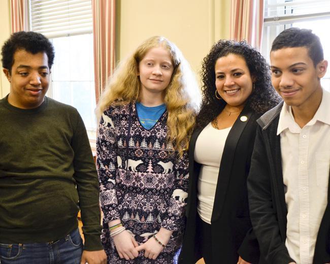 NYI students with Assemblywoman Fernandez
