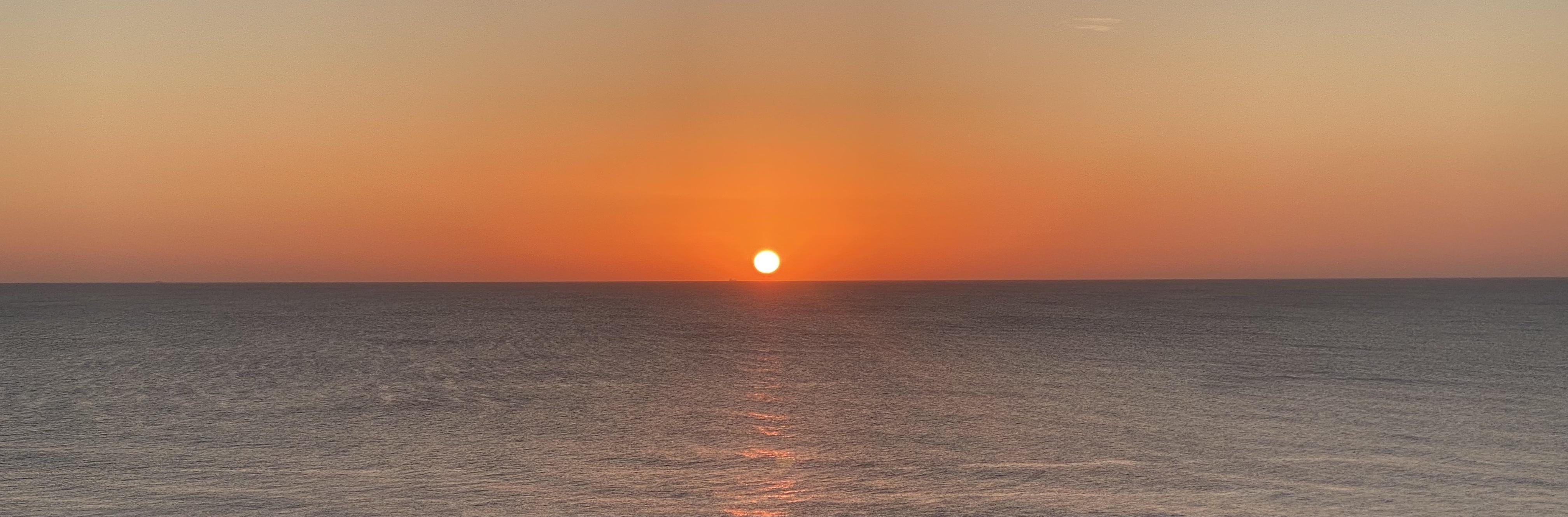 sunset banner