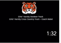 Girls Varsity Cross Country Track
