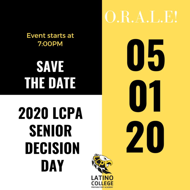 Please join tonight for LCPA College Decision Day! Featured Photo