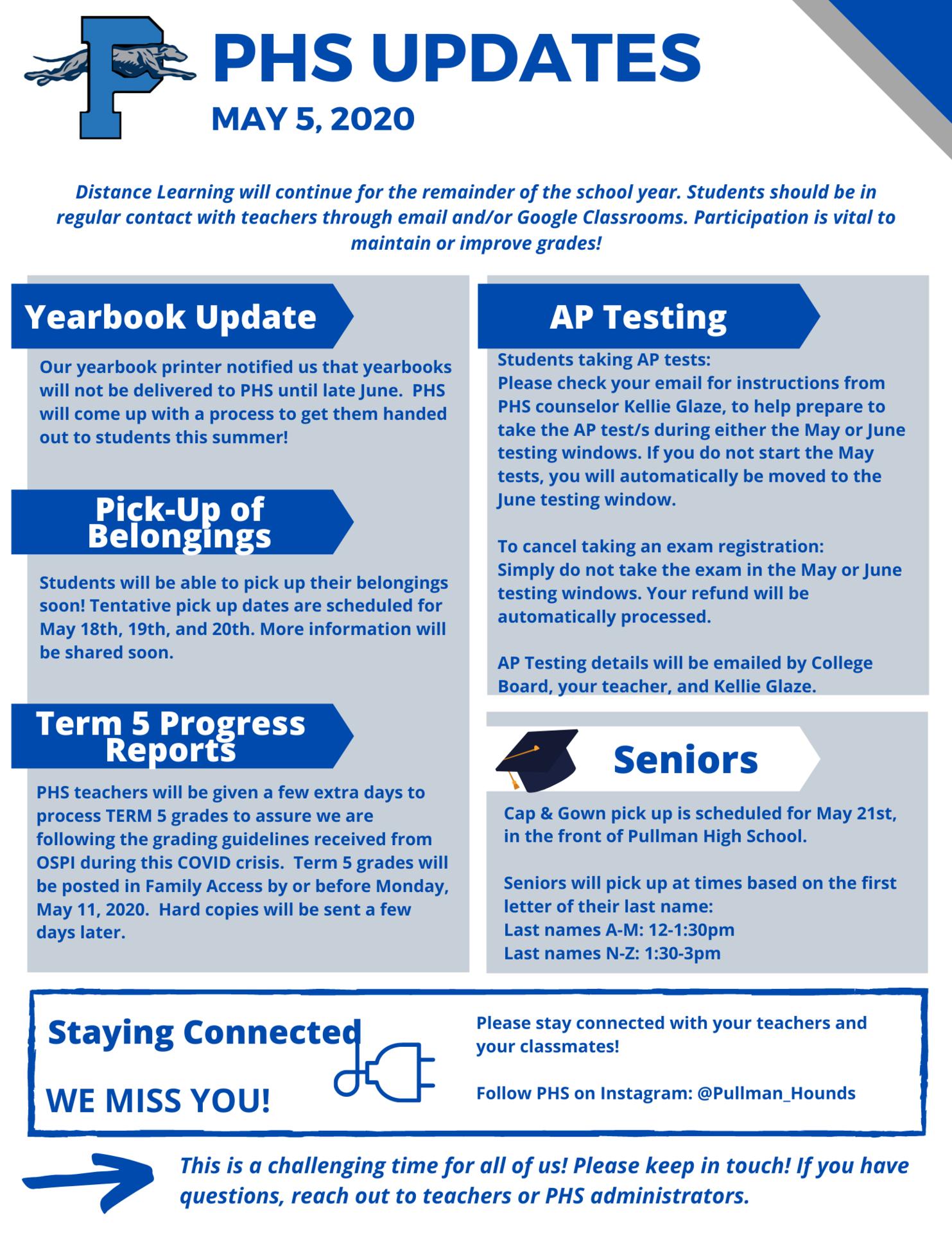 PHS Update May 6
