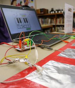 Photo of makerspace activities at Roosevelt Intermediate School in recognition of New Jersey Maker Day in March 2019