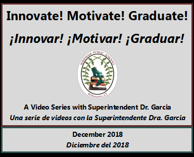Enjoy Dr. Garcia's December video of her Innovate! Motivate! Graduate! series. Thumbnail Image