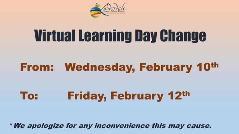 Virtual Learning Day Change Graphic