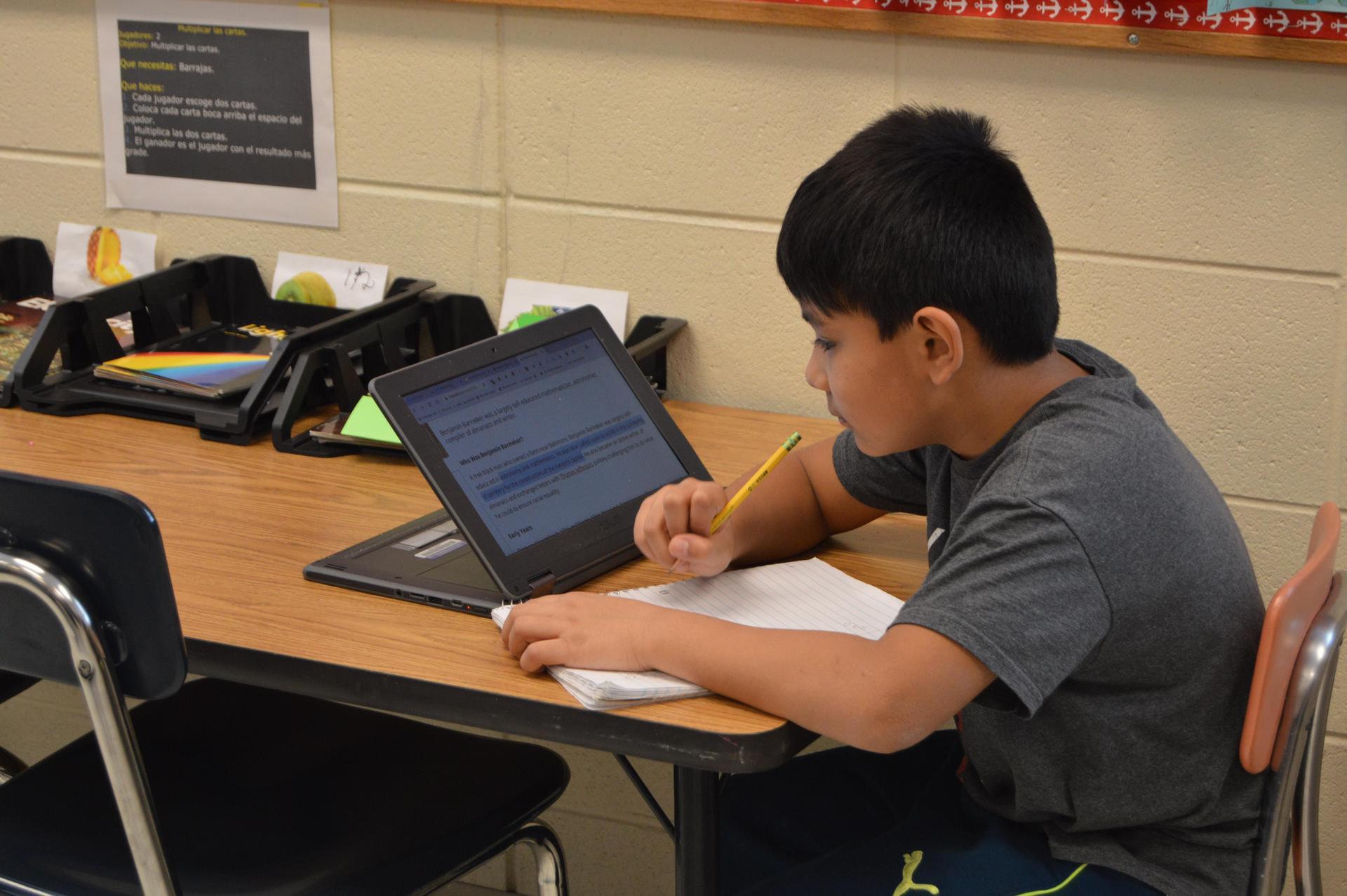 Chromebook homework
