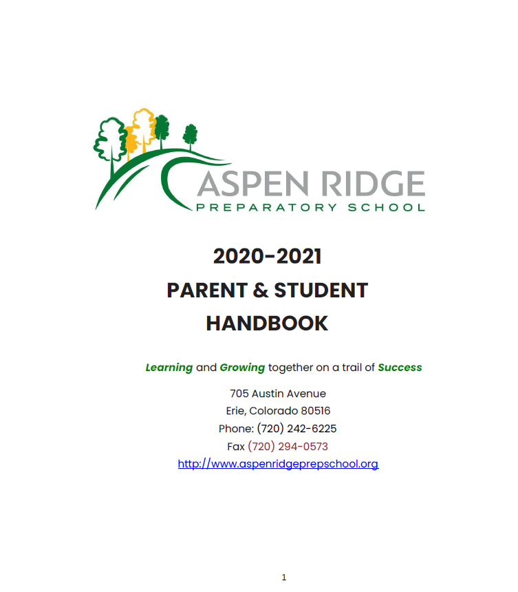 20-21 Parent & Student Handbook
