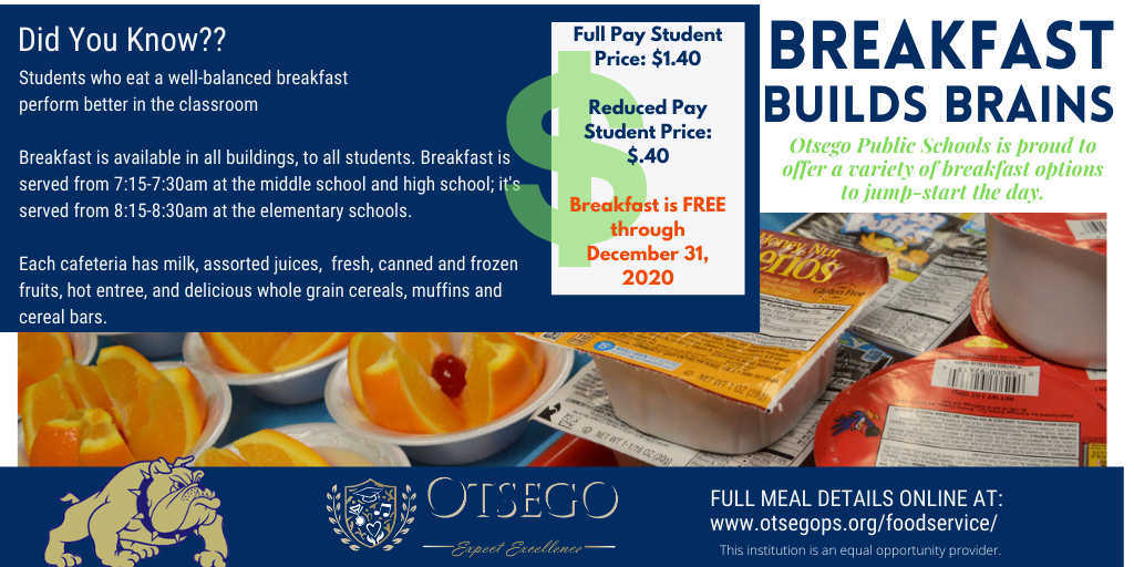 Breakfast promotional flyer