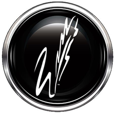 black circle with W