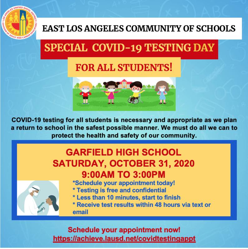 COVID TESTING AT GARFIELD HIGH SCHOOL