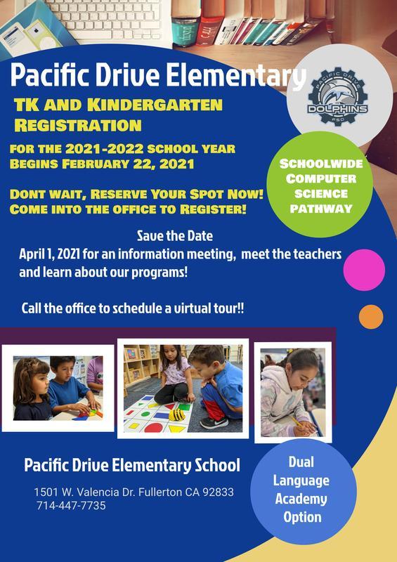 TK and Kindergarten Registration begins Monday!