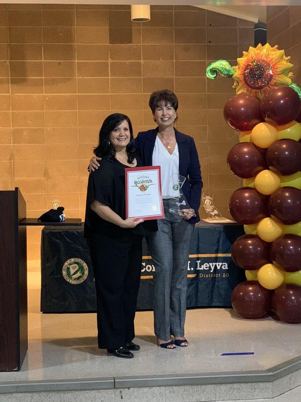 @SenatorLeyva honored Mrs. Rodarte at the