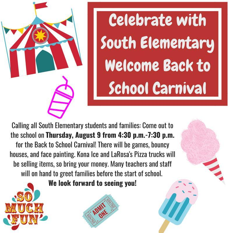 Celebrate Back to School at South Elementary! Featured Photo