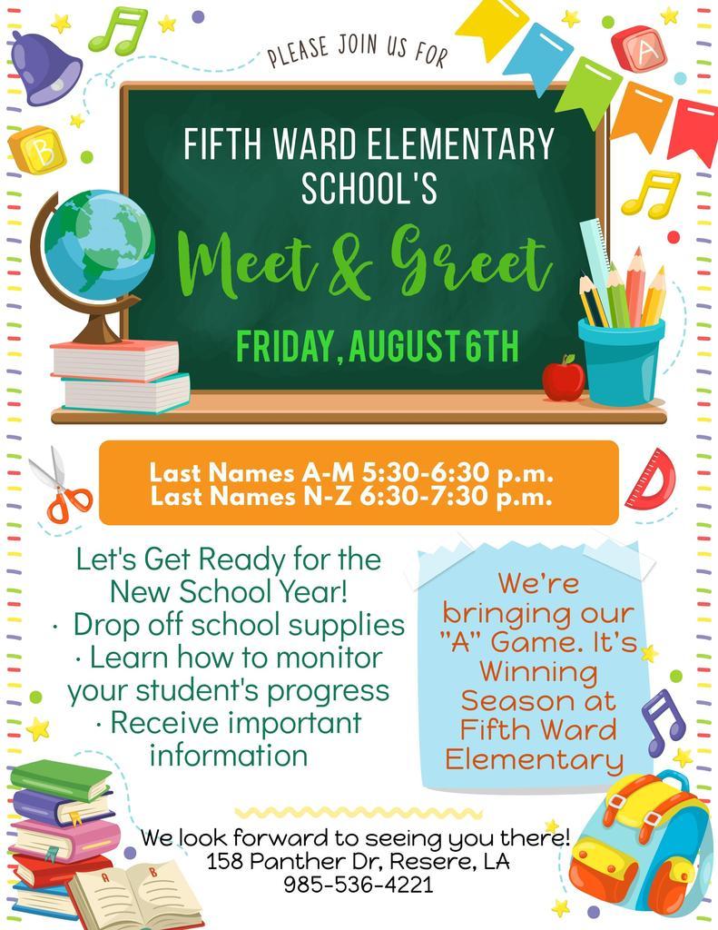 Meet & Greet: Friday, August 6, 2021