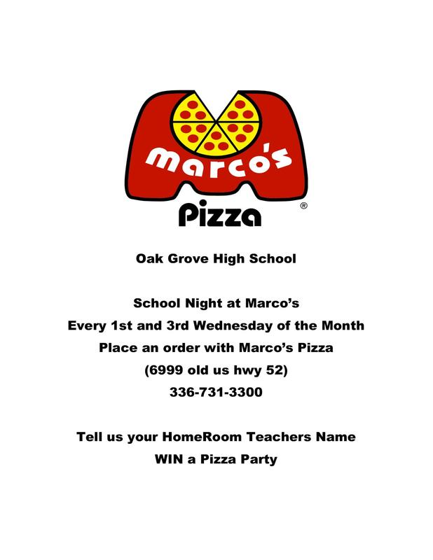 Pizza Night 1st and 3rd Wednesday of the Month