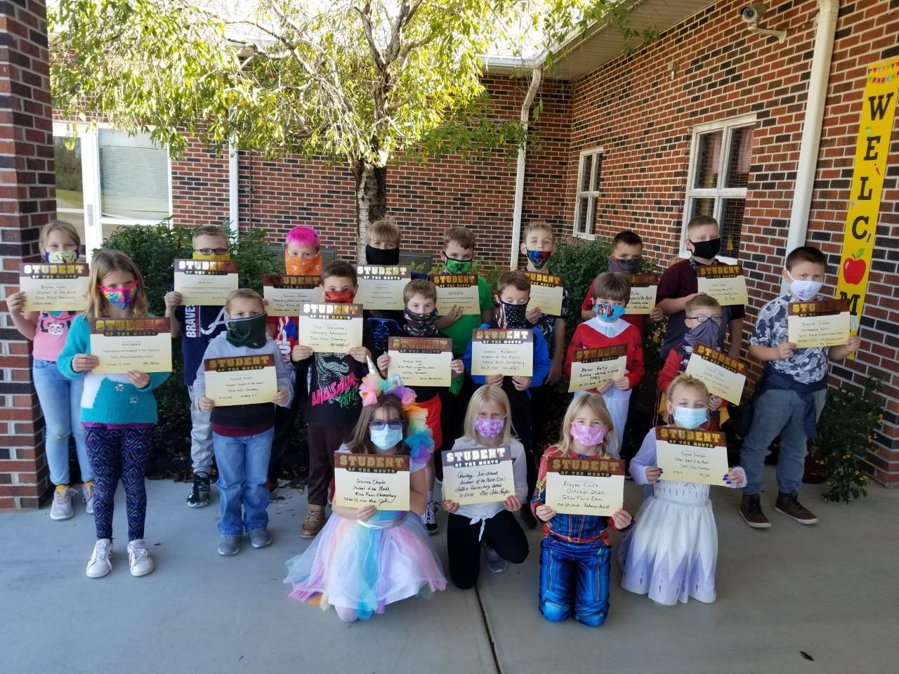 Picture of October 2020 Students of the Month at TPES