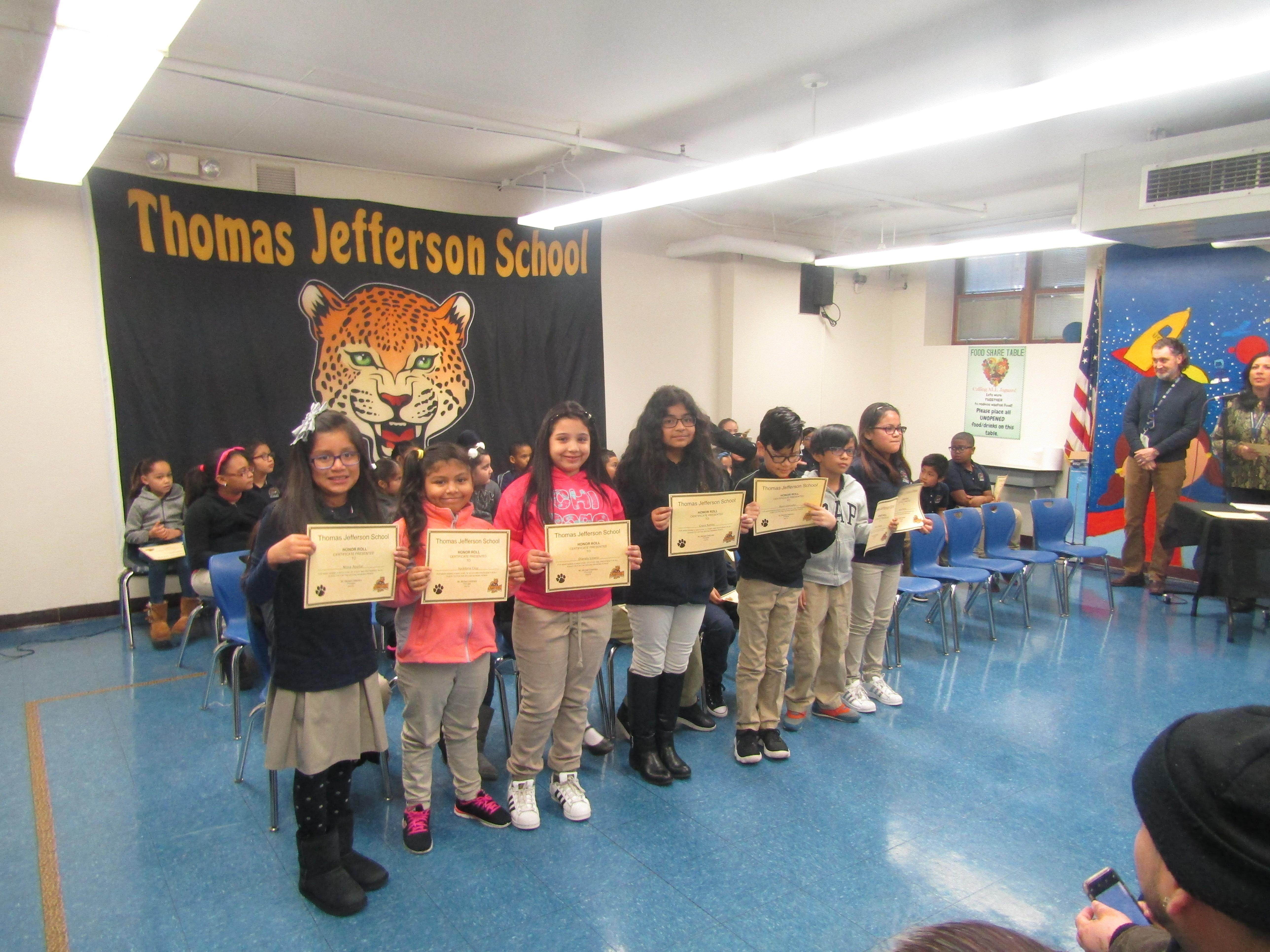 third group of honor roll recipients
