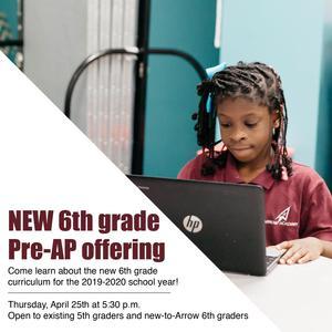 6th grade offering advertisement