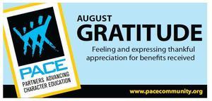August PACE Character Trait - Gratitude