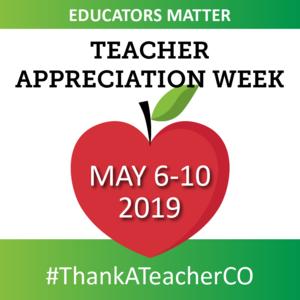 Teacher Appreciation Week red Apple