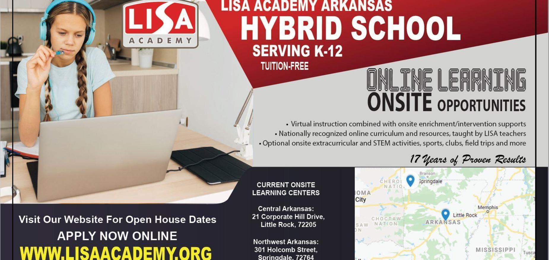 Hybrid school graphic