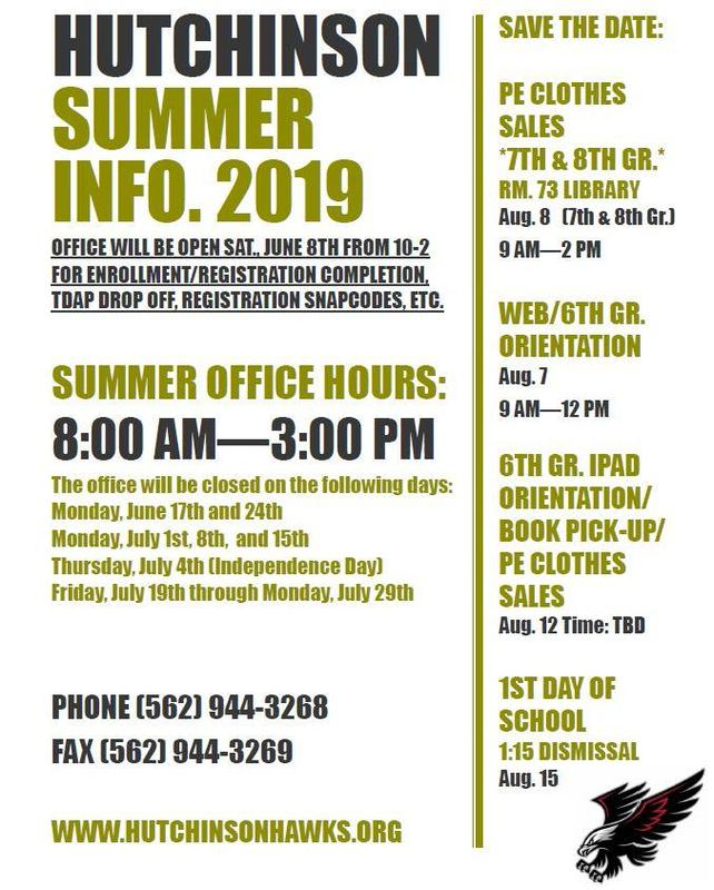 SUMMER INFO. Featured Photo