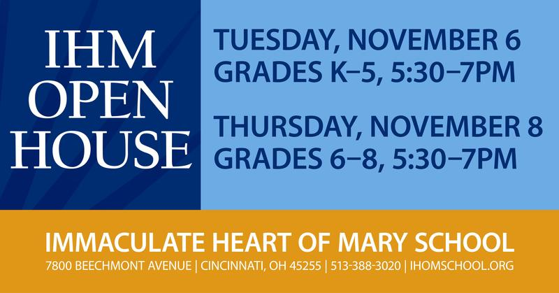 IHM School to Host 2 Fall Open House Events Thumbnail Image