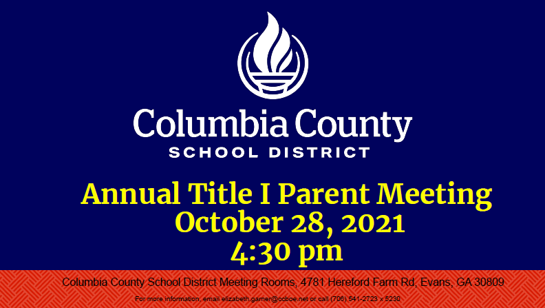 county title I meeting
