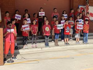 Diamond Point students pledge to be DRUG FREE