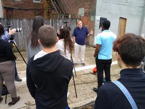 BSU students work with KISS-TV students