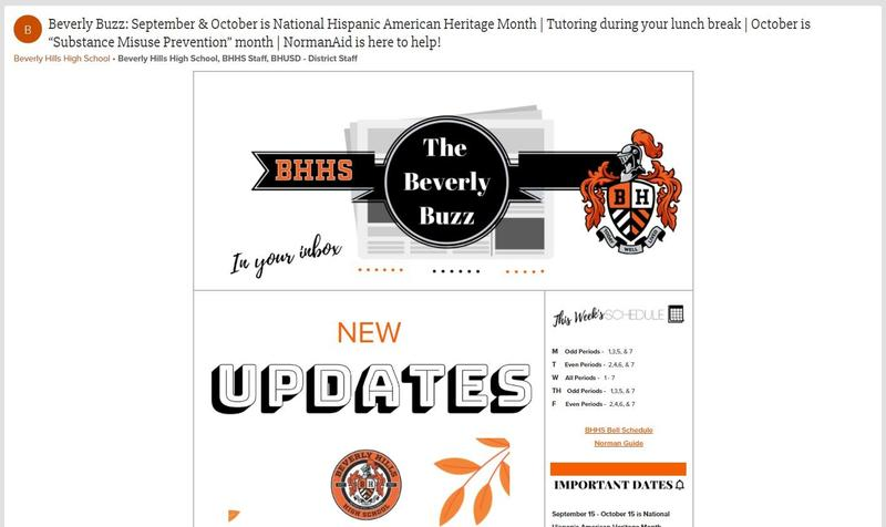 BHHS Newsletter - The Beverly Buzz - October 6, 2021
