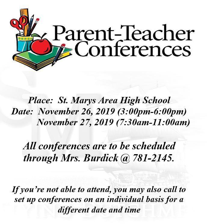 High School Parent / Teacher Conferences Nov.26/27 Thumbnail Image