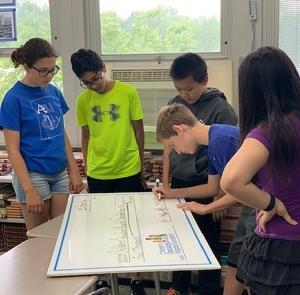 The student government at Edison Intermediate School recently donated $4,000 to Children's Specialized Hospital of Mountainside, presenting a check to hospital representative Alexis D'Antone on May 30.