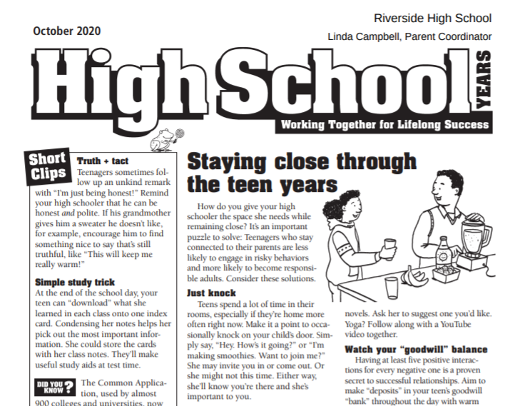 October Edition of High School Years Featured Photo
