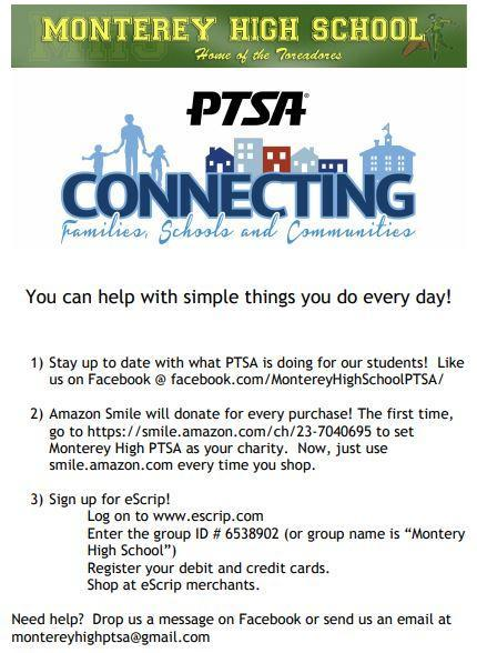 PTSA amazon smile fundraiser