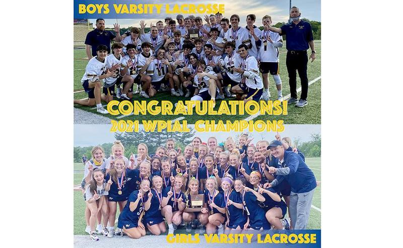 Mars Area High School Boys and Girls Lacrosse Teams win 2021 WPIAL Championship Titles