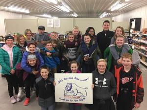 Student council with Christian Neighbors representatives.