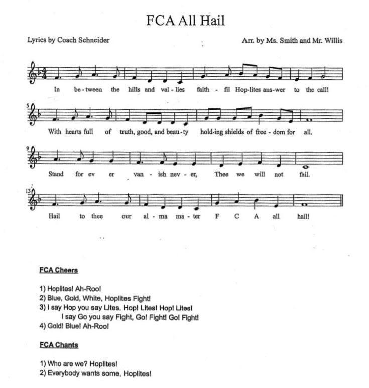 FCAS School Song
