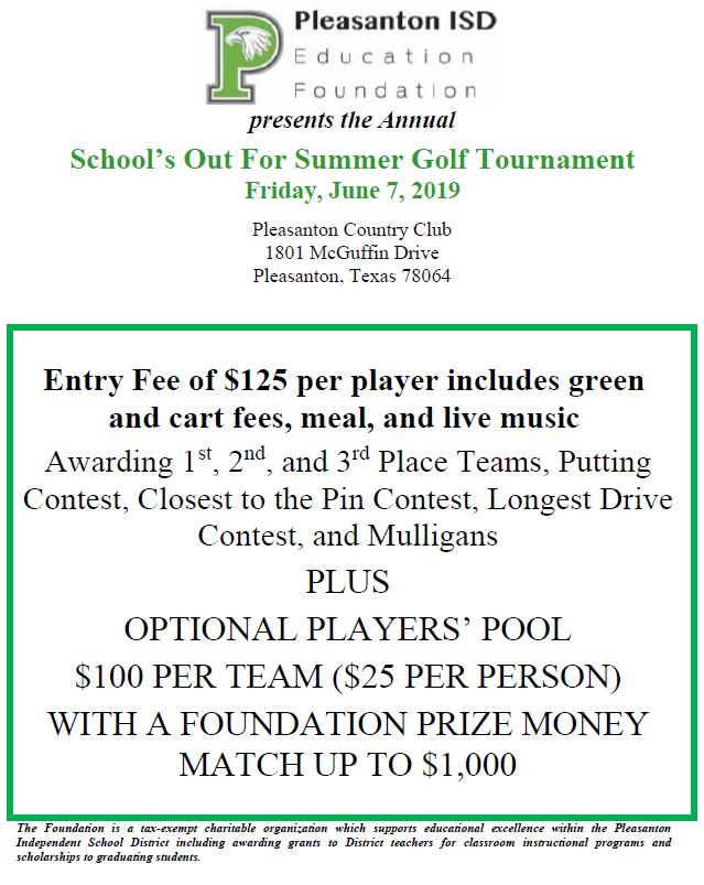 2019 Golf Tournament Information
