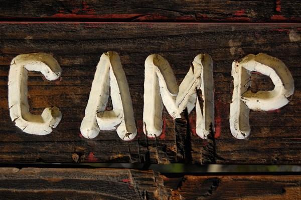 Camp sign