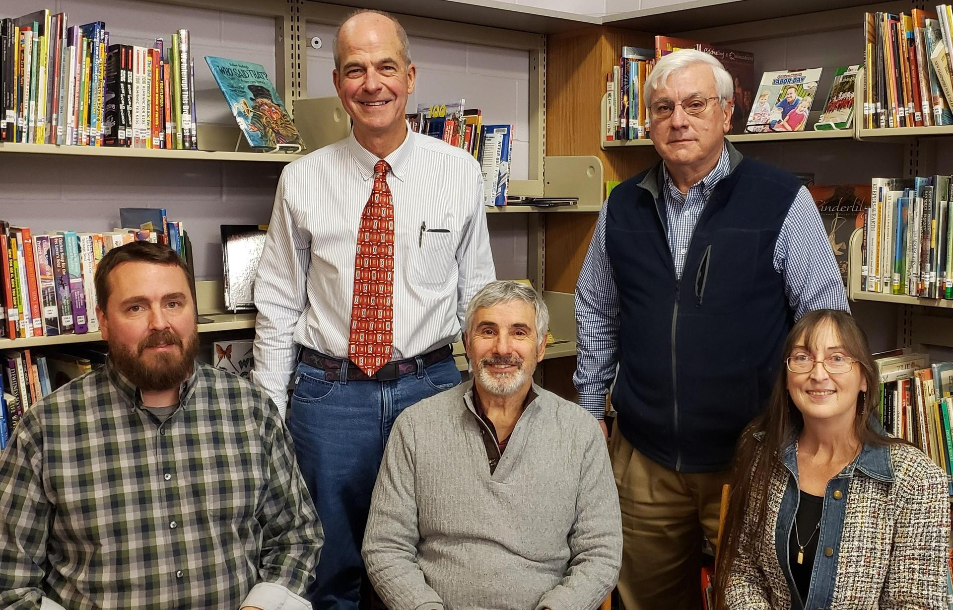 Marlborough School Board - Jeffrey Miller, Joseph Puleo, Andrew Felegara, Mark Polifrone, and Diane Neilsen