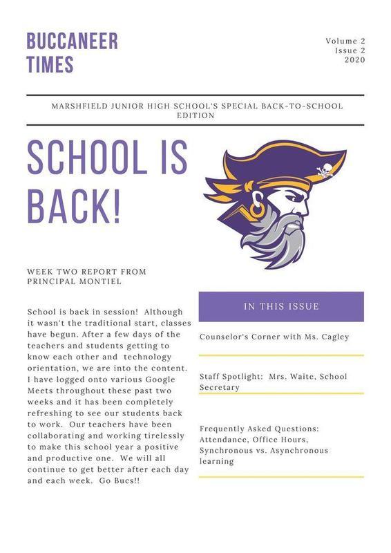 MJHS newsletter