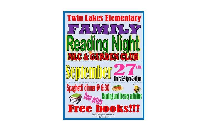 Reading Night flyer