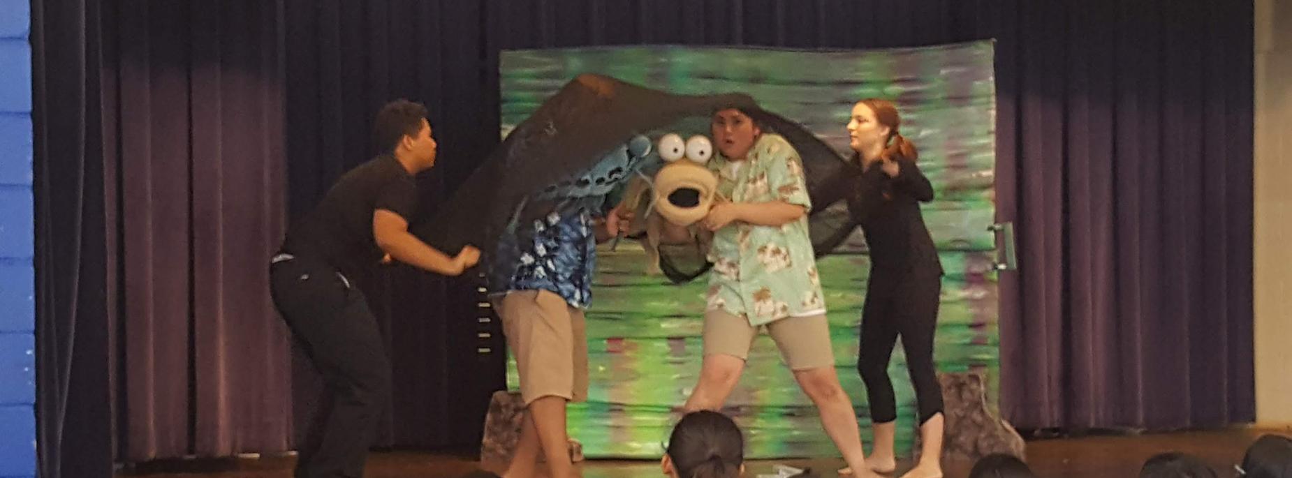 A&C Puppet show @ Waipahu Elem.