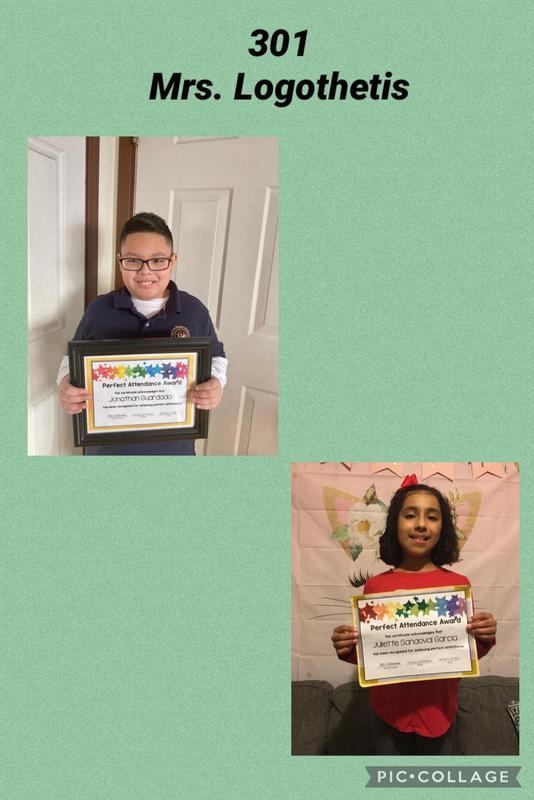 Room 301 Perfect Attendance collage