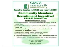 Community Recruitment Incentive