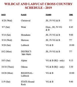 2019 Wildcat CC Schedule.png