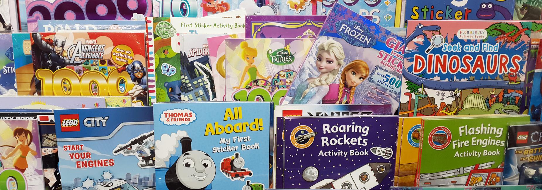 stack of childrens books