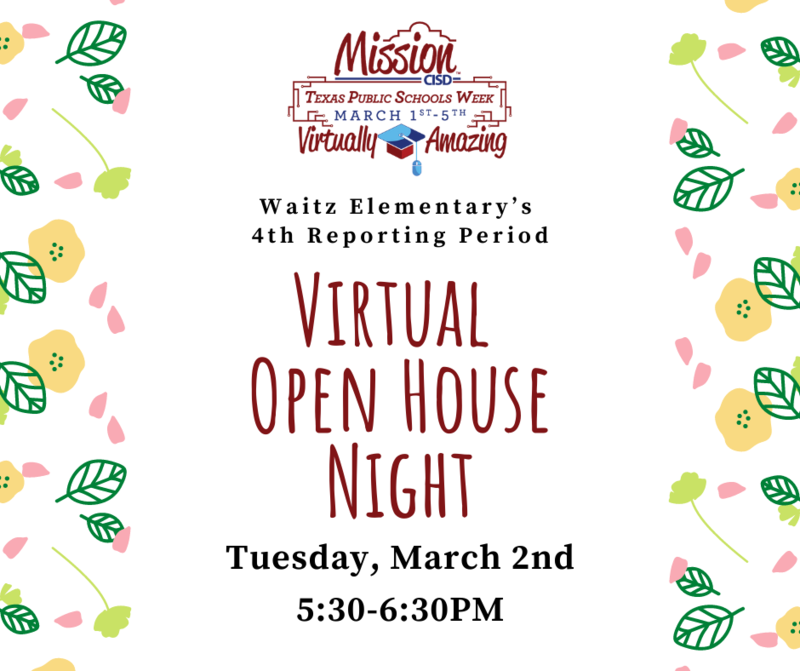 Virtual Open House-March 2nd