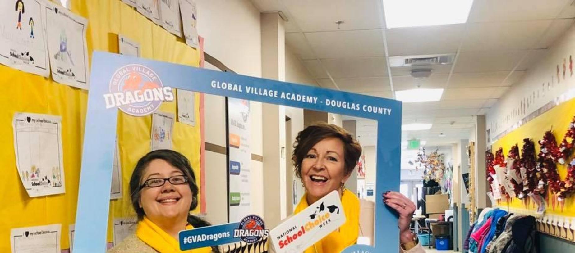 Principal Bush and Ms. Manskey School Choice Week